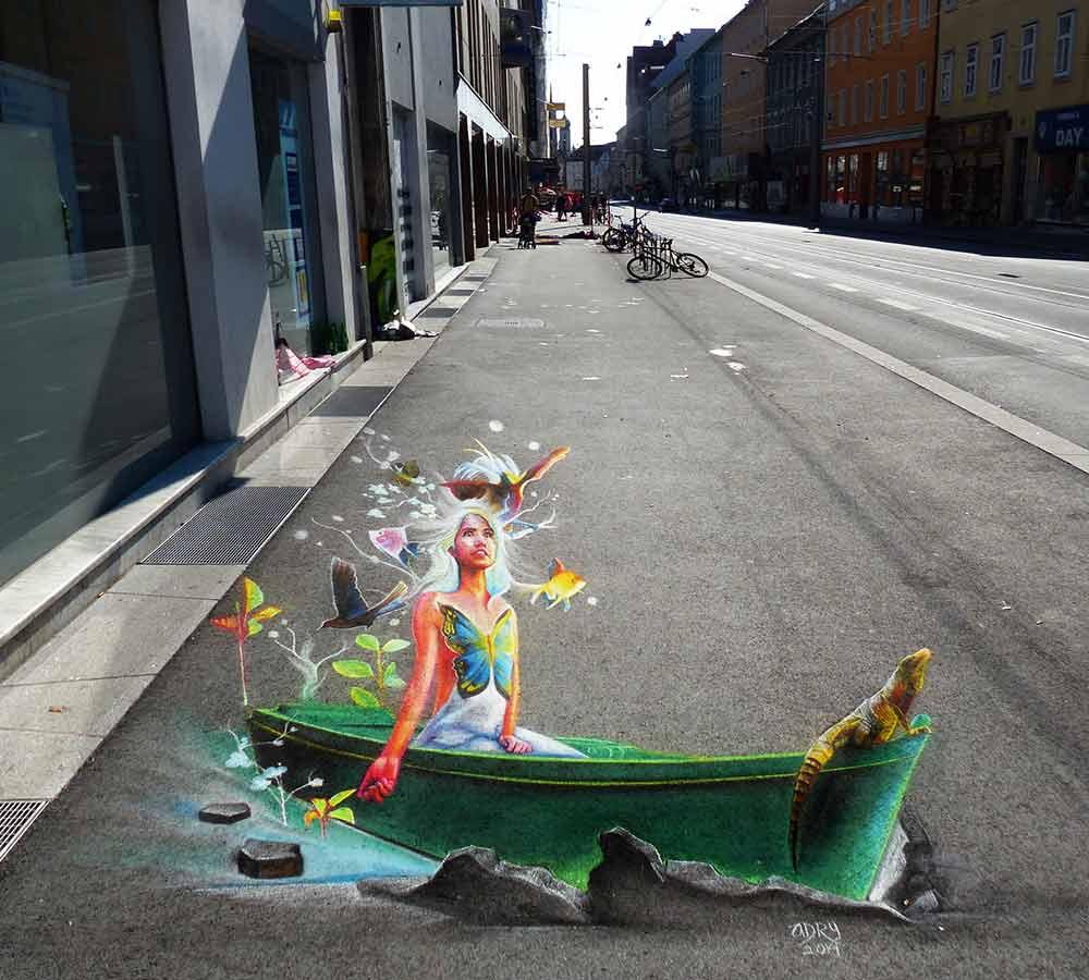 Adry Del Rocio, 3D Streetpainting, 3D & 2 D Streetart