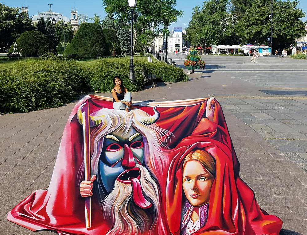3D Streetpainting at International Street Art Festival, Ruse Bulgaria