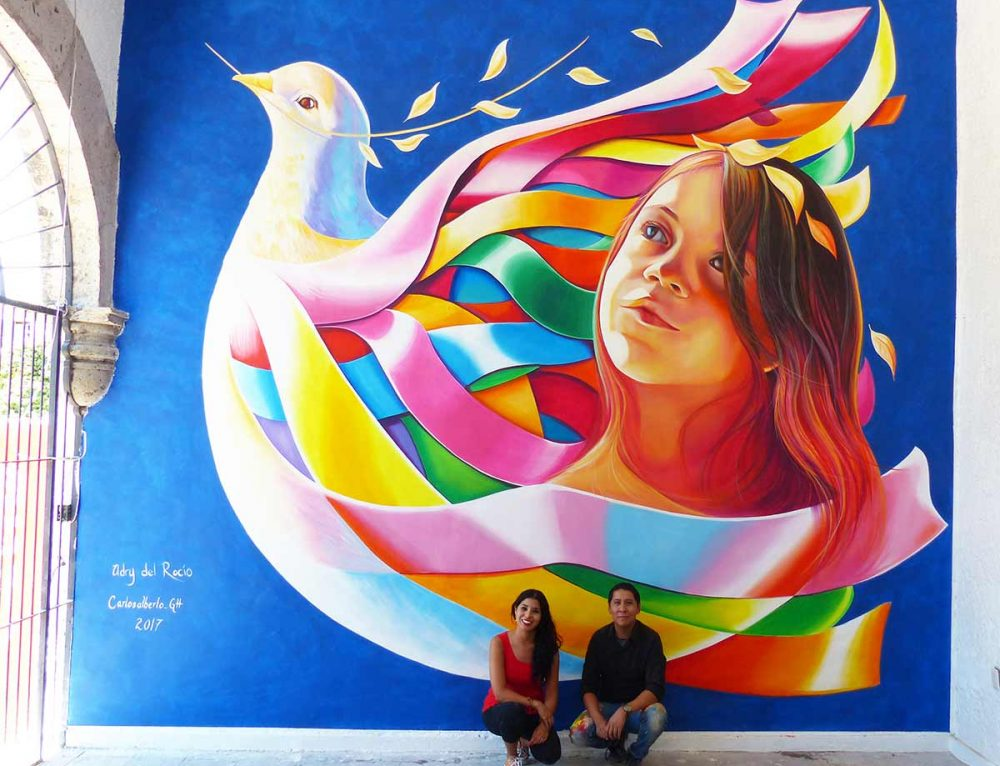 "Mural ""Peace Laces"" at Festival for Peace in Ameca, Jalisco."