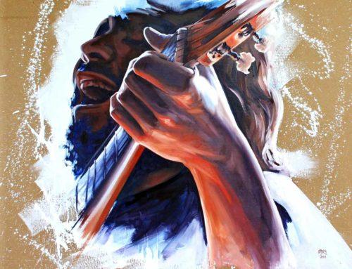 """Oil Painting """"Singer"""""""