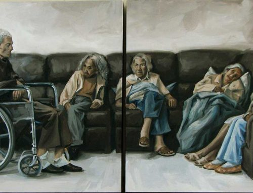 "Oil Painting ""Waiting room"""