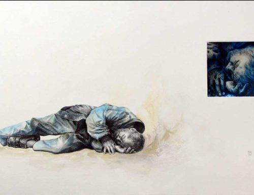 "Mixed Media Painting ""Mutilated dreams"""