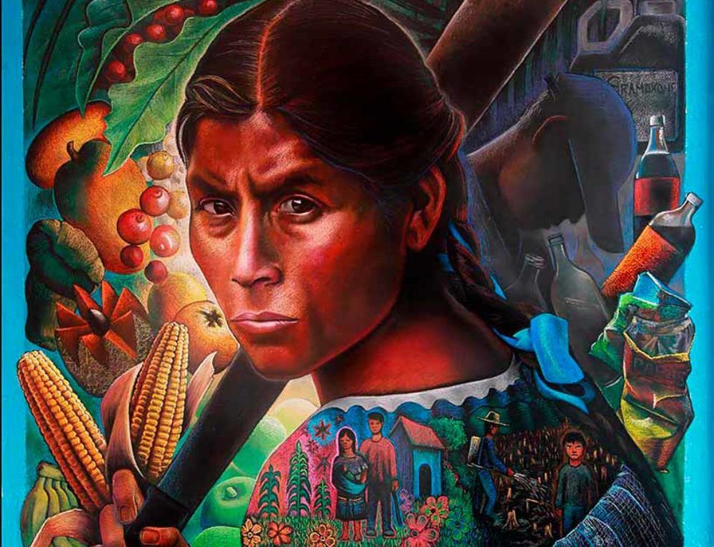 "Mural ""Mother Earth"" in Joibe, Chiapas, Mexico"