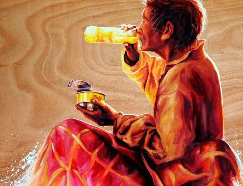 "Oil Painting ""Spiritual breakfast"""