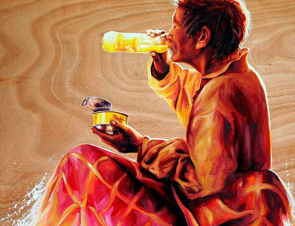 "Oil Painting ""Spiritual breakfast"""