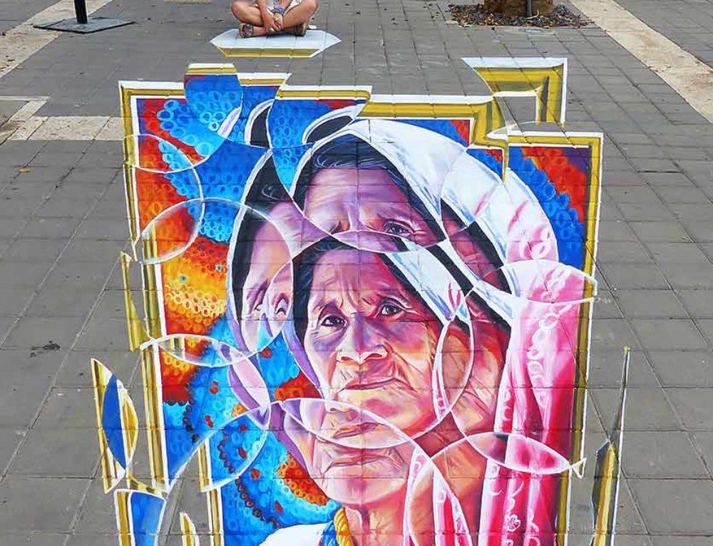 3D Streetpainting 2 at Afula Streetart Festival 2017, Afula,Israël