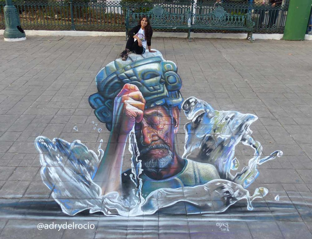 3D Streetpainting at Colors of Chiapas Festival 2018