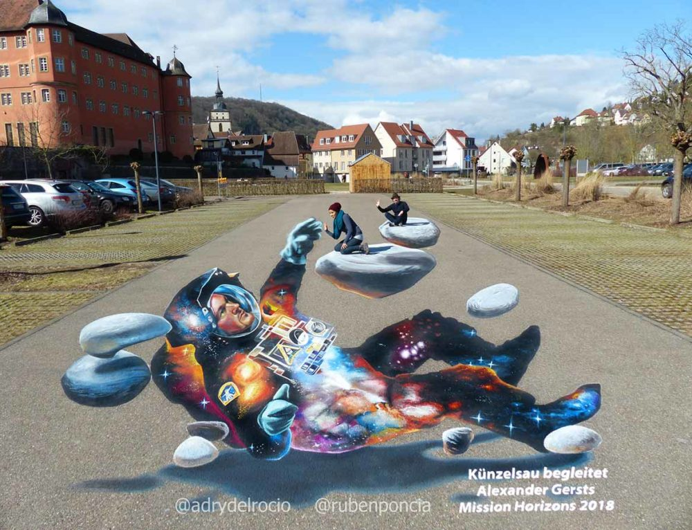 3D Streetpainting in Kunzelsau, Germany