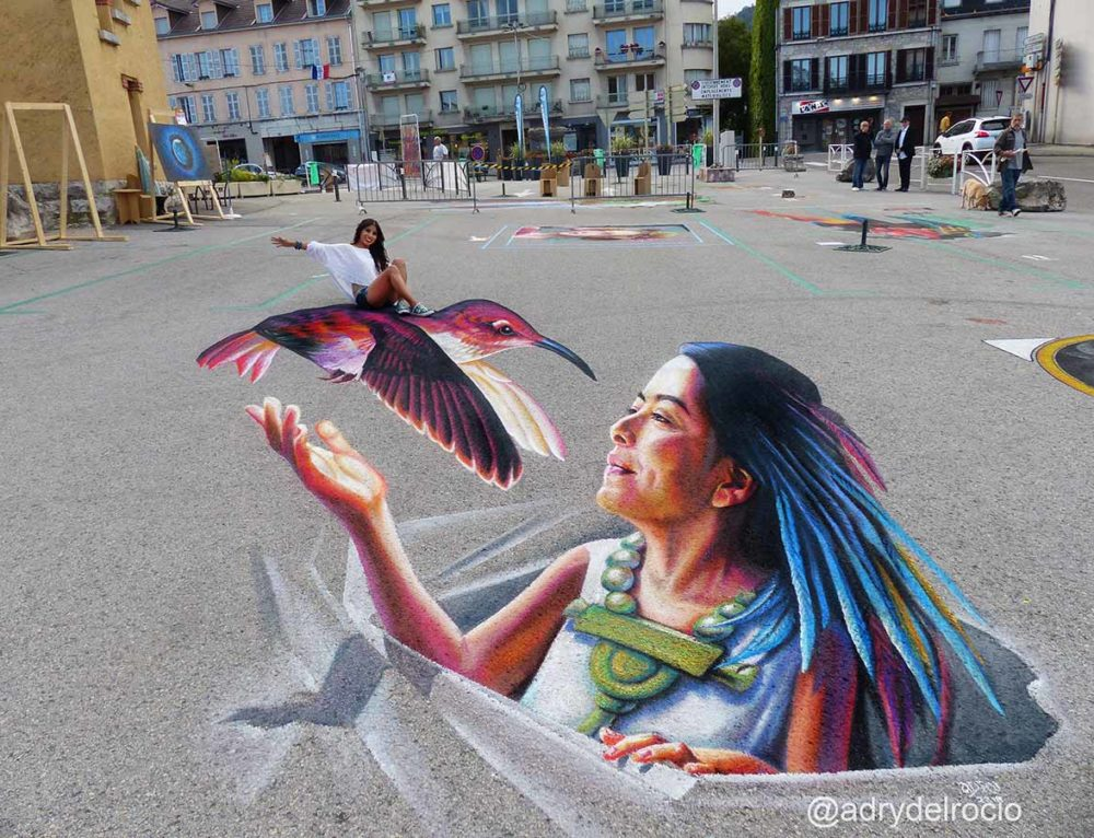 3D Streetpainting at Art in Haut Bugey in Oyonnax, France