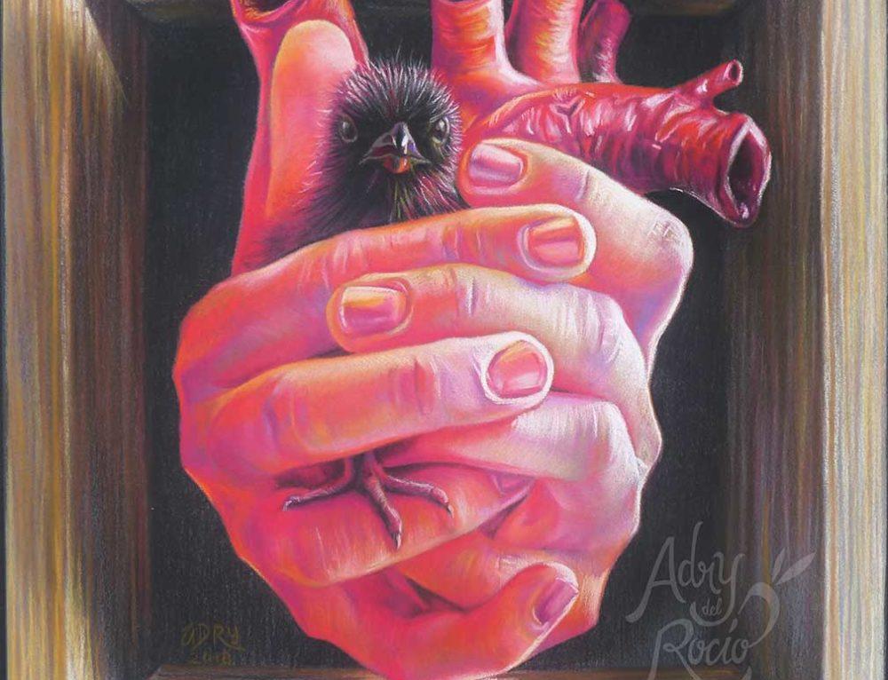 """Pastel Painting """"Little box of life"""" (Cajita de la vida)"""