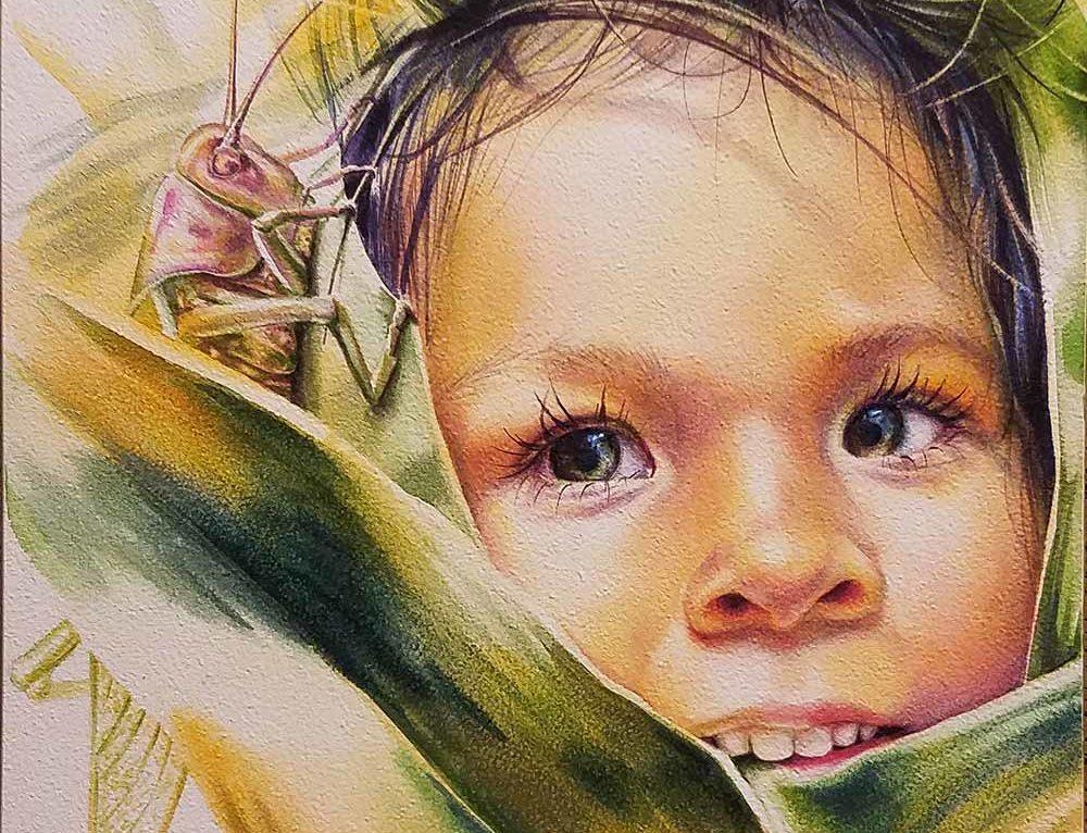 "Watercolor Painting ""Centeotl"""