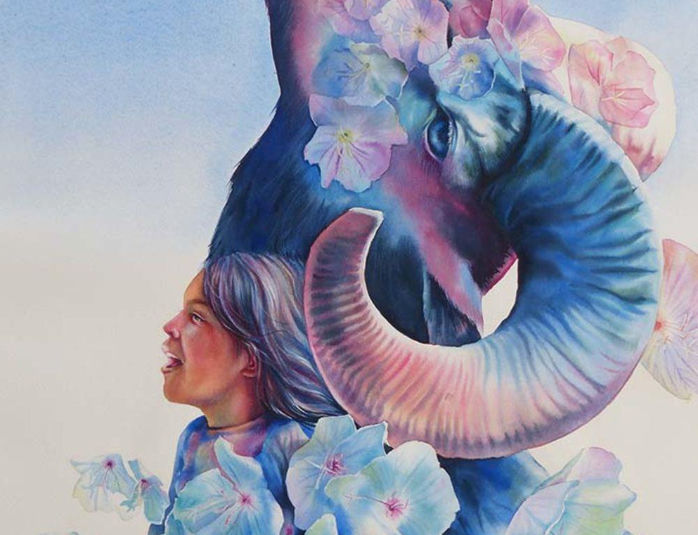 """Watercolor Painting """"Dreams of air"""" (Sueños de aire)"""