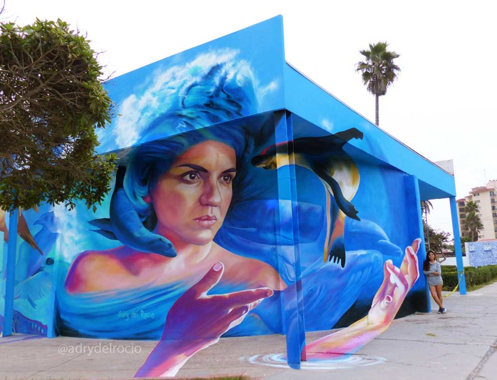 "Mural ""Aquatic Soul"" in Rosarito, Baja California, Mexico"