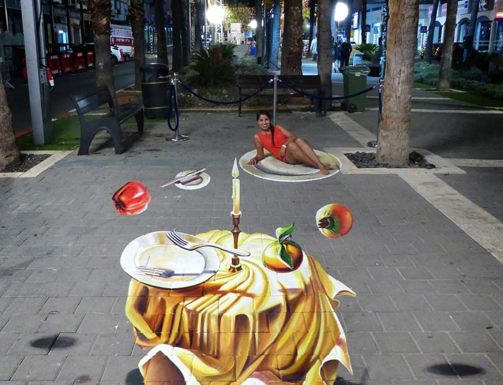 3D Streetpainting at at Afula 3D Festival in Afula, Israel Part 2