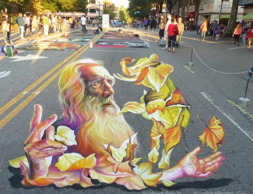 3D Streetpainting at Marietta Chalktoberfest, Georgia, USA