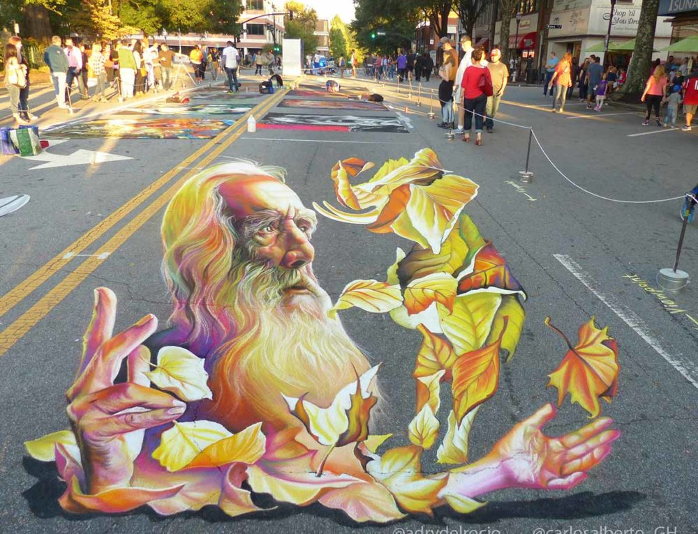 3D Streetpainting at Marietta Chalktoberfest, Georgia, USA