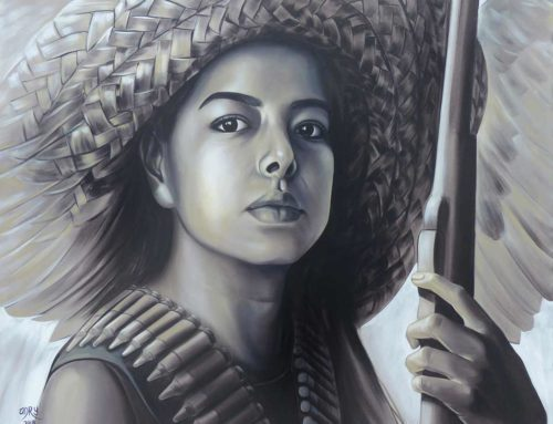 """Acrylic Painting """"Mexican revolutionary woman"""""""