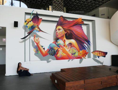 3D Mural at me_by_melia, Los Cabos Baja California, México