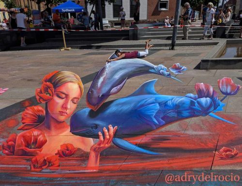 3D streetpainting at International Street Art Festival 2019 Brande