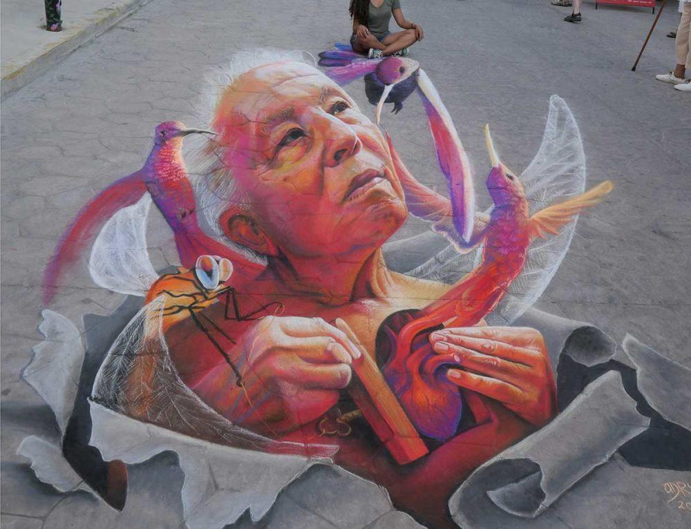 3D streetpainting at Bucerías Street Festival 2019, México