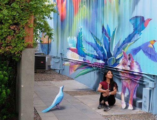 "3D Mural ""Agave"", Phoenix, AZ. US"