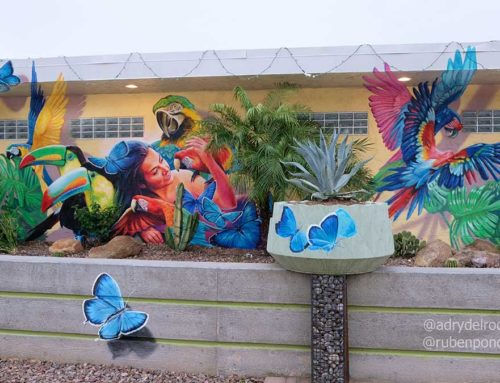"3D Mural ""Listen to the tropical rhythm"", Phoenix, AZ. US"